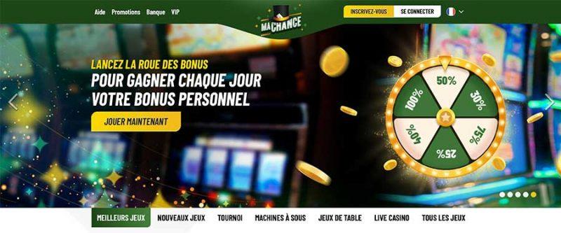 Interface MaChance Casino
