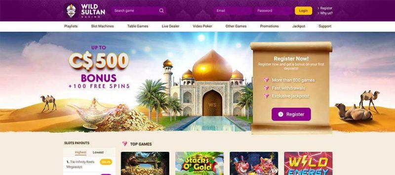 Avis Wild Sultan Casino